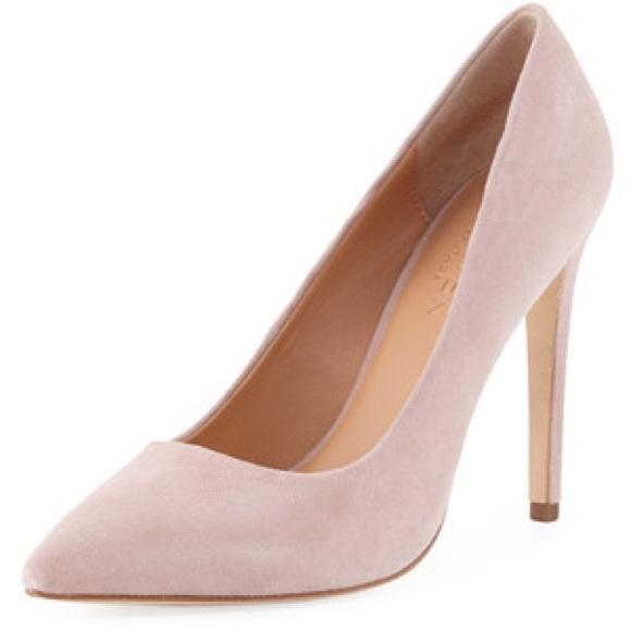 06b7ca84910 Light Pink Suede Pointy Heel